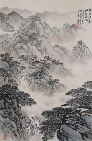 近现代 宋文治 群岚 (文物商店旧藏)