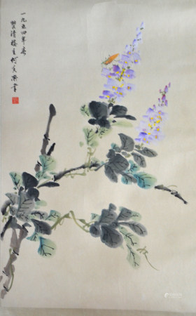 近现代 何香凝 花卉