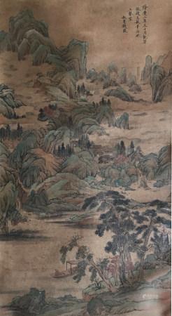明代 钱毂 青绿山水