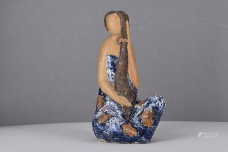 Hand Sculptured Porcelain Art Lady