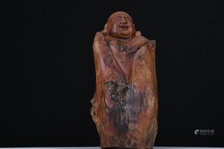 "20"" Hand carved Oriental Wooden Buddha"