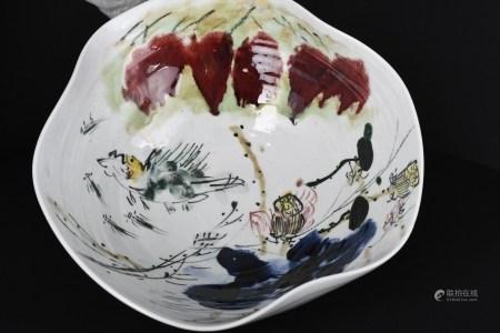 Hand Sculptured Porcelain Bowl