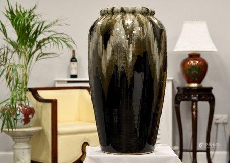 "Stunning 28"" Handmade Original Oriental Vase"