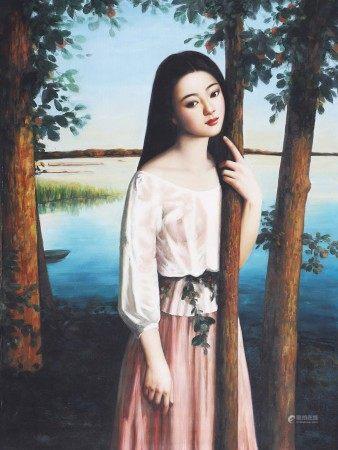 王明雲 油畫少女