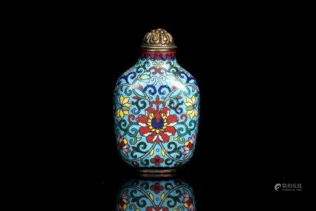 A Bronze Enamel Porcelain Snuff Bottle