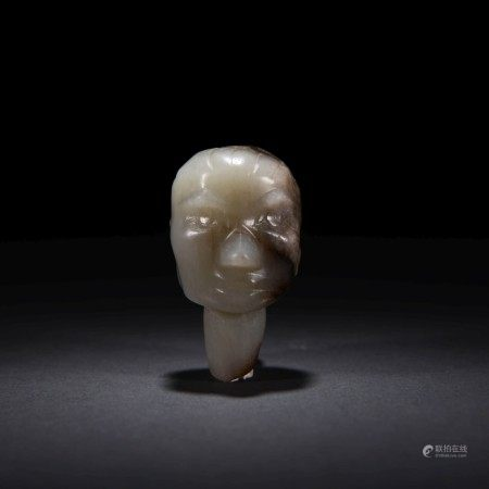 A Jade Human Head Ornament