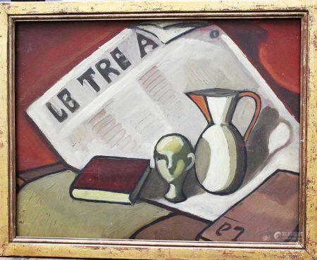 Artiste italien vers 1930/40, style vie, huile sur panneau, encadré. 33x42 cm