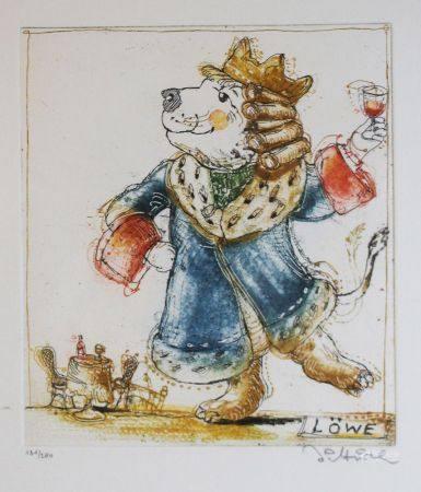 Simon Dittrich (né en 1940), gravure sur papier, encadrée sous verre. 38x28 cm