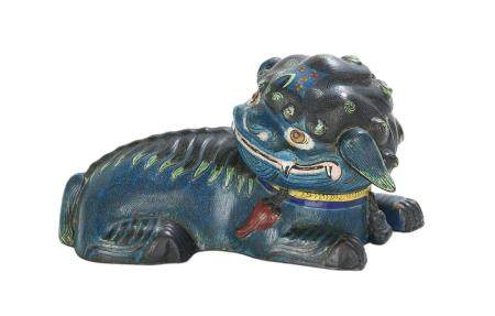 Chinese Cloisonne Foo Dog