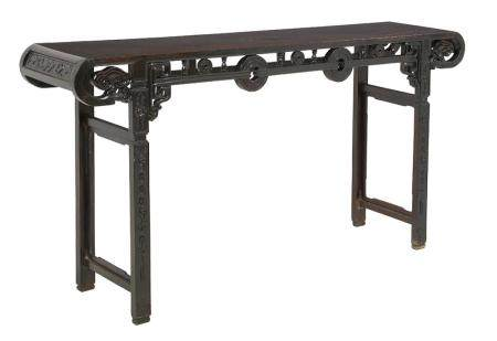 Chinese Elm and Hardwood Altar Table