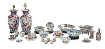 Twenty-Six Pieces of Japanese Imari Porcelain