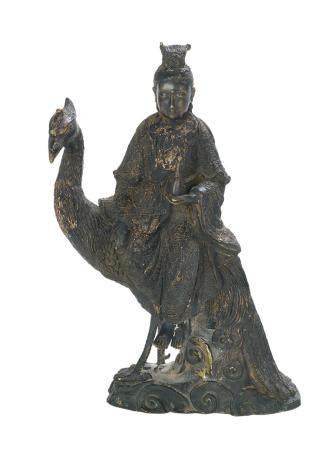 Asian Gilt-Metal Figure of Guanyin