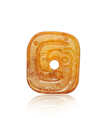 西周 玉方形鳳紋佩 Western Zhou Dynasty JADE CARVED SQUARE PENDANT WITH DESIGN OF PHOENIX