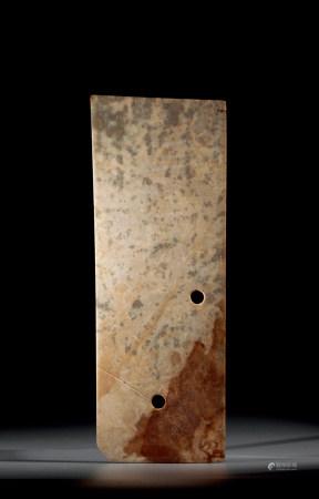 龍山文化 玉刀 Longshan Culture JADE CARVED SWORD