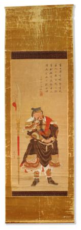 江戶德川時期 關羽畫像 Edo period in Tokchon PORTRAIT OF GUANYU