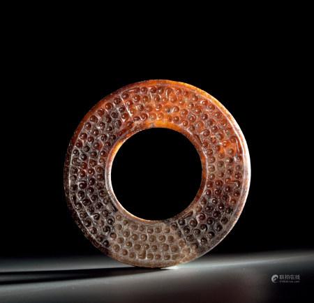 戰國 谷紋環 Warring States Period ANCIENT JADE WARE CARVED RING WITH DESIGN OF GRAIN, HUAN