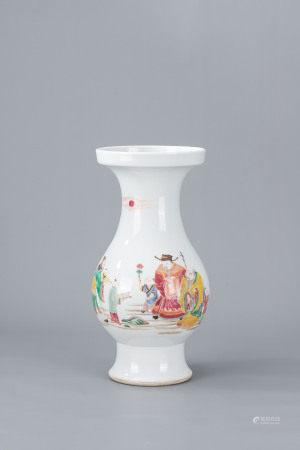 清雍正 粉彩福祿壽花瓶
