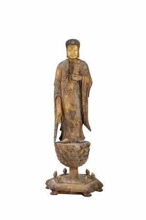 清 木雕金漆阿彌陀佛