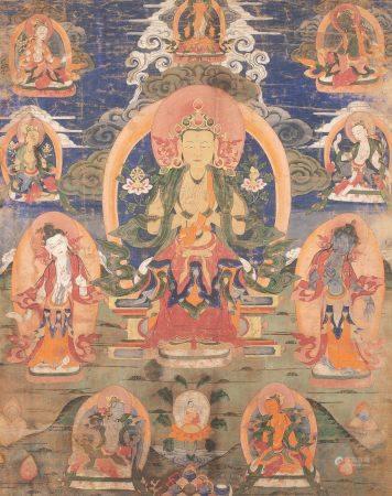 十八世紀 彌勒菩薩唐卡