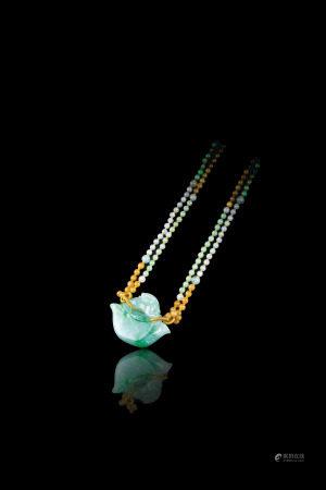 天然翡翠元寶墜飾