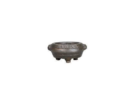 獸耳三足小銅爐「大明宣德年制」款