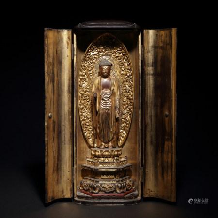 十八世紀 木雕漆金佛像