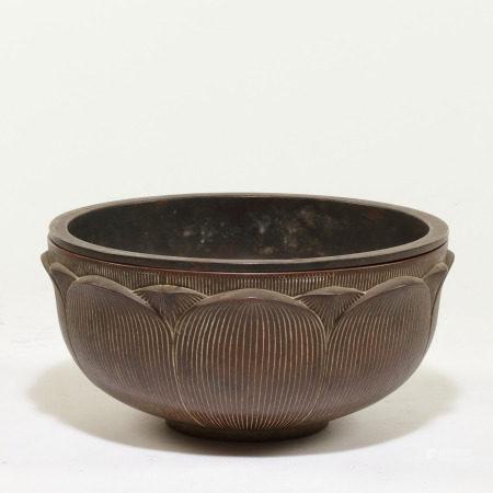 十七世紀 蓮紋銅鉢