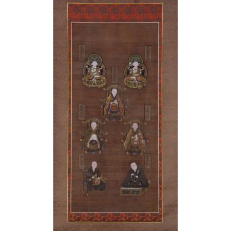 古佛畫 七尊神像