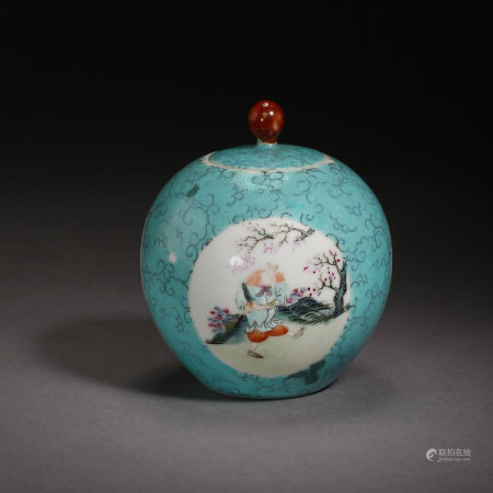 LATE QING DYNASTY, CHINESE FAMILLE ROSE JAR