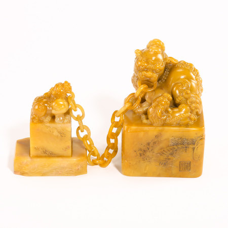 QING DYNASTY, A SET OF CHINESE TIANHUANG SEALS