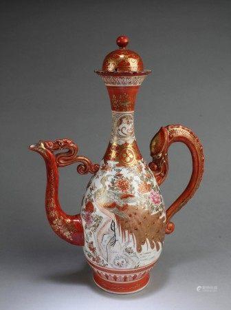 Antique Large Japanese Porcelain Teapot
