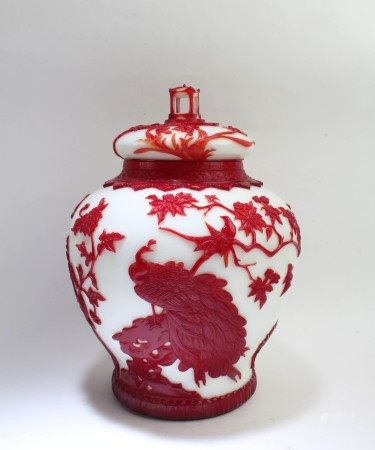 Peking Glass Jar With Lid