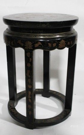 A Round Lacquer Stool