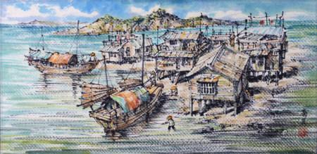 陸瓞綿  漁村