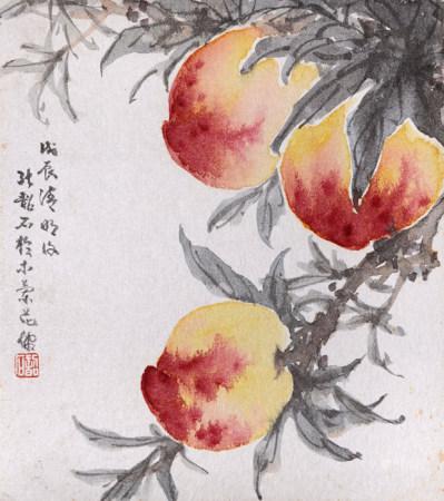 張韶石  壽桃