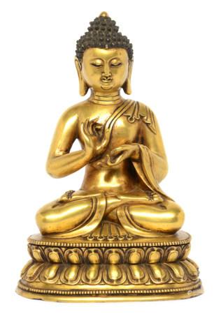 銅鎏金釋迦牟尼佛