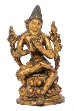 銅鎏金度母