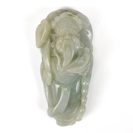 Late 20th C. Chinese Green Jade Pendant