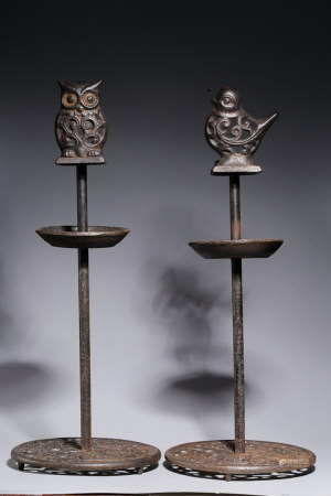 PAIR OF CHINESE CANDEL STAND