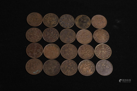SET OF CHINESE BRONZE COIN