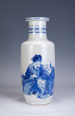 A CHINESE BLUE AND WHTIE PORCELAIN VASE