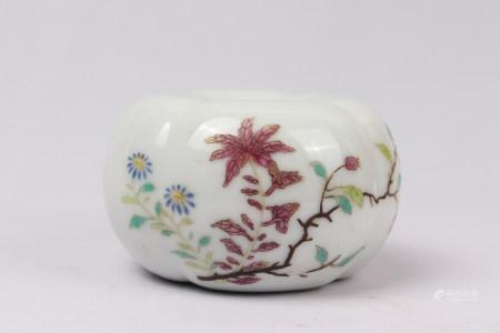 "Chinese Famille Rose ""Flower"" Porcelain Jar"