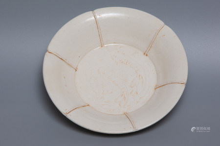 Chinese Ding Kiln Porcelain Plate