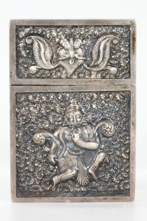 India S E Asian Carved Silver Calling Card Case