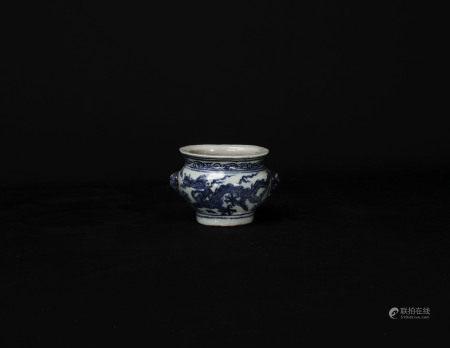 明代-青花龍紋香爐