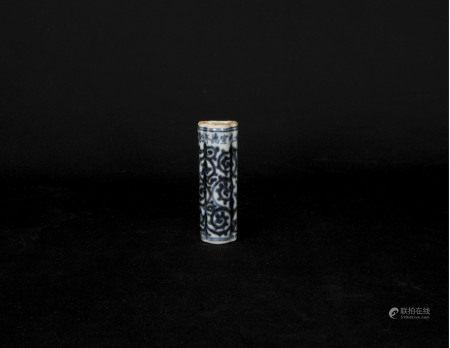 「大明宣德年製」款-青花鳥食罐
