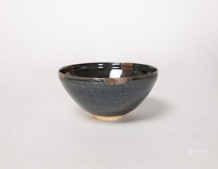 元代-磁州窯點彩缽式碗