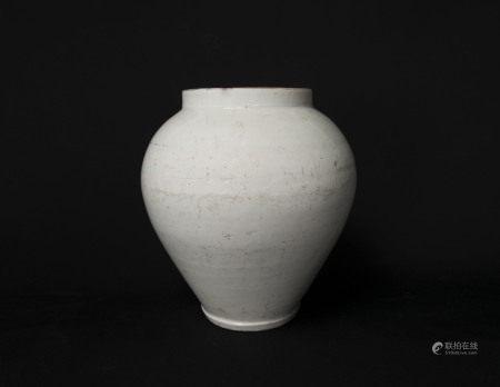 李朝-白瓷罐