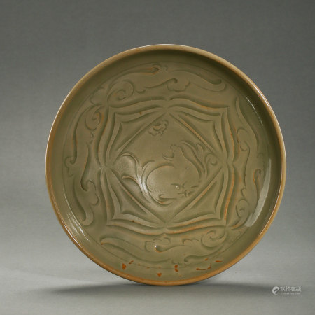 CHINESE YAOZHOU WARE PLATE, NORTHERN SONG D.