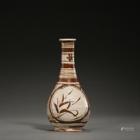 CHINESE JIZHOU WARE BOTTLE, SOUTHERN SONG DYNASTY